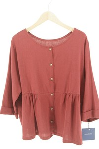 Late Summer Early Autumn Three-Quarter Length Natural Material Blouse