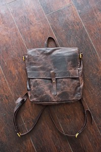 Buebreozer Backpack Backpack Size M Men's Ladies Brown