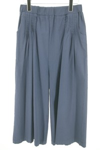 Late Summer Early Autumn Waist pin Tuck Gaucho Pants