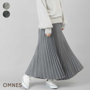 Gigging Chambray Accordion Pleats Skirt