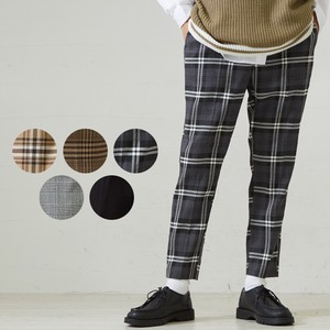 S/S Men's Dyeing Checkered Ankle Tapered Pants