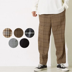 S/S Men's Dyeing Checkered Wide Tapered Pants