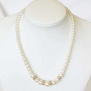 Rondel Pearl Necklace Short