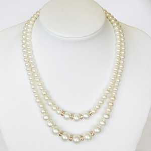 Rondel Pearl Double Necklace