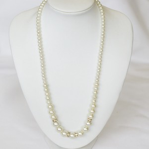 Rondel Pearl Necklace Medium Length