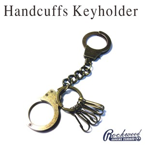 Metal Hand Cuffs Key Ring Antique Gold Handcuffs Key Ring Punk