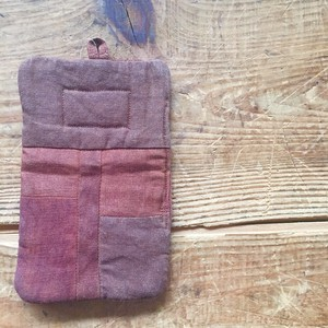 Persimmon -Dyed Linen Potholder