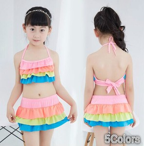Girl Swimwear Frill 2 Pcs Set Girls Sea Bathing Beach Hot Springs Water Playing