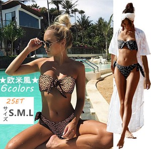 Swimwear 2 Pcs Set Fashion Sexy Popular Sea Bikini Triangle Leopard