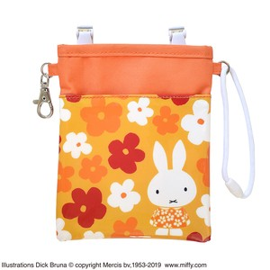 Miffy Pen Pouch Flower Orange