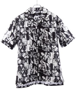 Tropical Photo Print Over Open Shirt