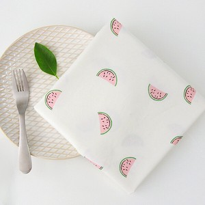 Fabric Cotton Fruit Basket Watermelon Design Fabric
