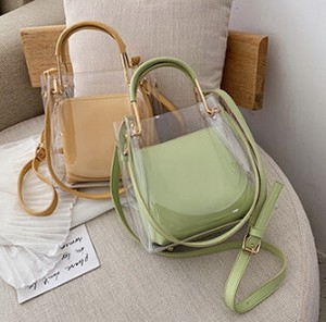 Korea Handbag Casual Transparency Diagonally