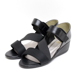 Elastic Belt Wedged Sandal