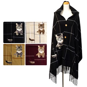 Cat Checker Poncho Stole