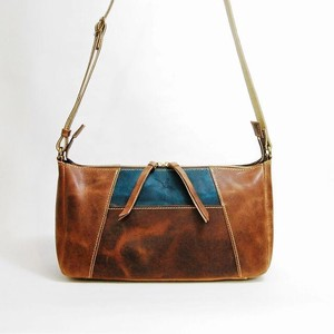 Genuine Leather Horizontal Shoulder Bag
