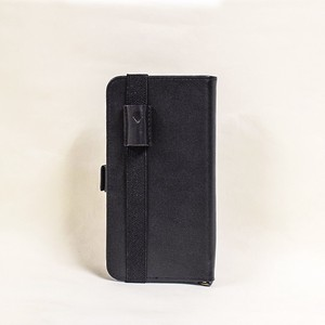 Genuine Leather Notebook Case pen Holder Attached Black Men's Ladies Notebook Black