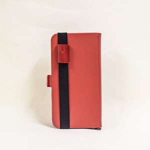 Genuine Leather Notebook Case pen Holder Attached Wine Men's Ladies Notebook Wine Red