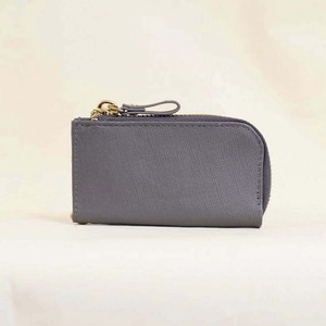 Cow Leather Key Case Gray Men's Ladies Leather Gray