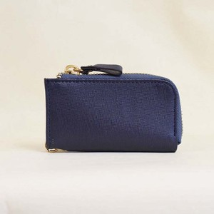 Cow Leather Key Case Men's Ladies Leather Navy