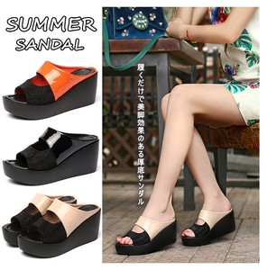 Ladies Light-Weight Sandal Comfort Sandal Open Toe Wedged Heel