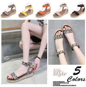 Ladies Leopard Sandal Beautiful Legs Ankle Strap