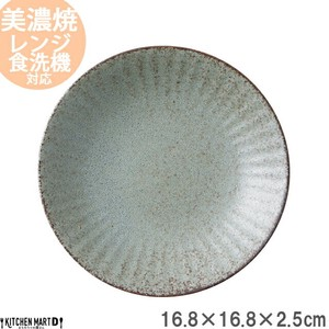17cm Plate Plate Gray Round shape Plate Pasta Plate Curry Plate Salad