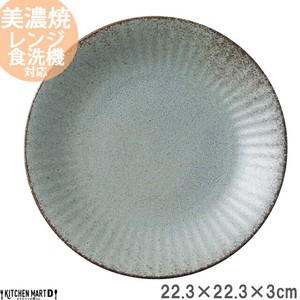 Plate Plate Gray Round shape Plate Platter Curry Plate Pasta Plate Salad
