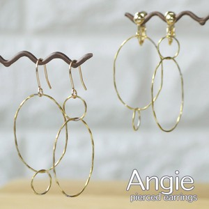 Brass Ring Gold Pierced Earring Earring