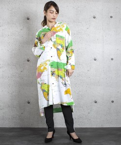 Map Long Shirt One-piece Dress