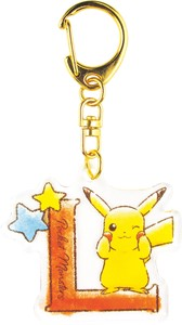 Pocket Monster Initial Acrylic Key Ring