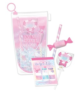 Colorful Juice Stationery Set Pink