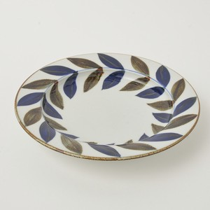 HASAMI Ware Leaf Attached Plate Hand-Painted Fysm Color