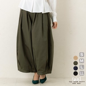 Pants Color Clown Culotte Wide Tuck Twill