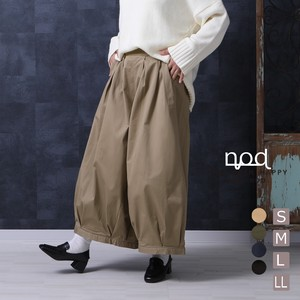Pants Color Clown Culotte Wide Twill