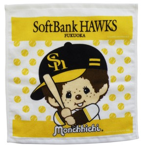 Pool soft Bank Hawks monchhichi Hand Towel