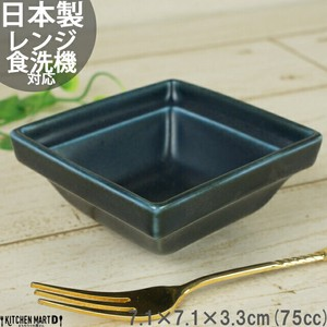 Frame Navy Blue Square Bowl Navy Mino Ware