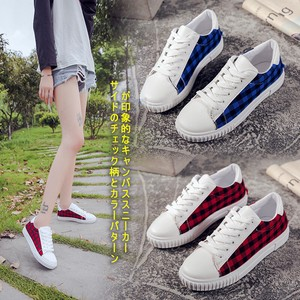 Ladies Low-rise Checkered Campus Sneaker Beautiful Legs Slip