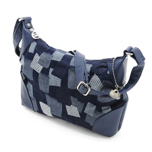 Patchwork Print Denim Material Bag