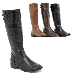 Boots Double Belt Attached Long Boots Cup Boots Heel