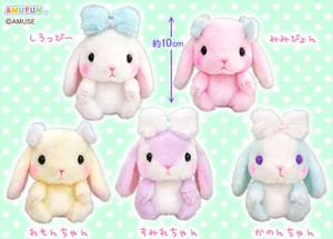 """Poteusa Loppy"" Fluffy Ribbon Size:LMC Stuffed toy of Rabbit"