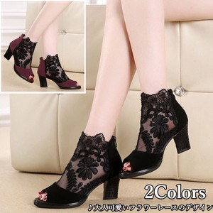 Ladies Boots Pumps Sandal Flower Lace Beautiful Legs High Heel