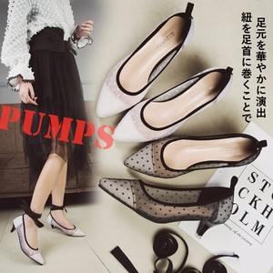 Ladies Lace Pumps Dot Pumps Ankle