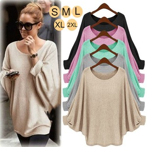 A/W Ladies Top Long Sleeve Knitted Sweater Office Pullover