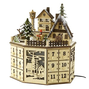 Christmas LED Melody Wood Objects Advent Calendar