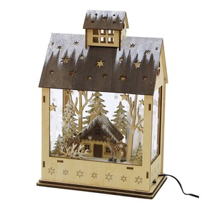 Christmas LED Melody Wood Objects House