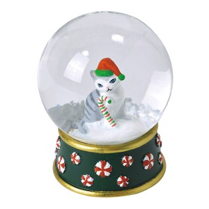 Christmas Snow Dome Cat