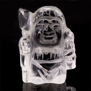 Seven Deities Of Good Luck Bishamon God Of Luck Natural Crystal Ornament