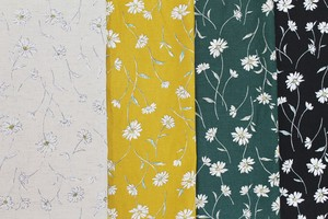Fabric 4 Colors Free Processing Floral Pattern