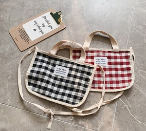 Korea Kids Bag Diagonally Checkered